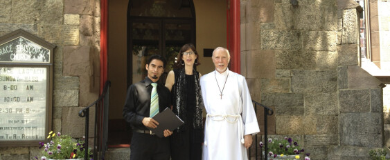 Fr. Rich, Dr. Barbra, and Jose Arturo Godoy Torres